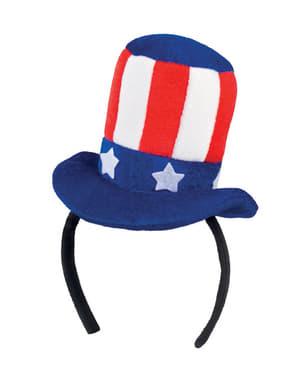 Mini chapéu de Tio Sam para mulher