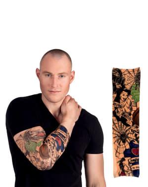 Manica cn tatuaggi della costa ovest per adulto
