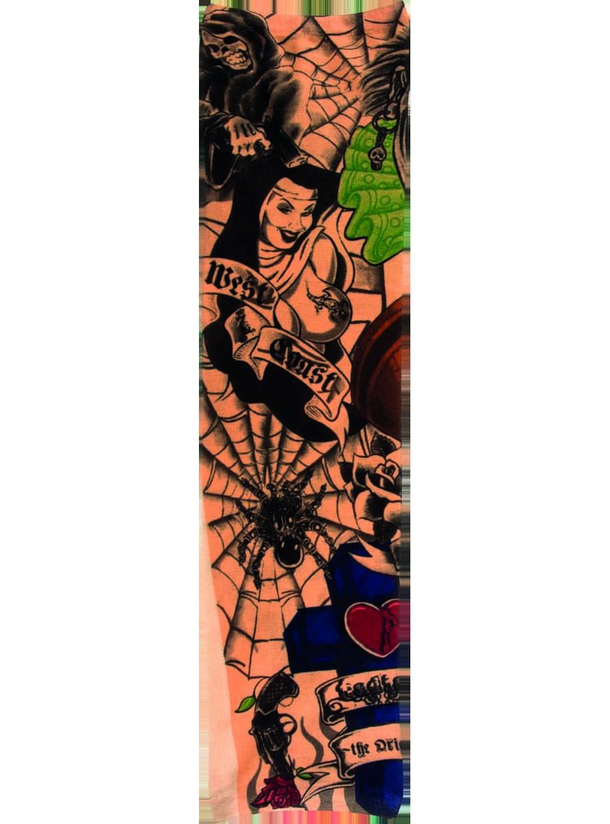 Adult 39 s west coast tattoo sleeve for 1 4 sleeve tattoo