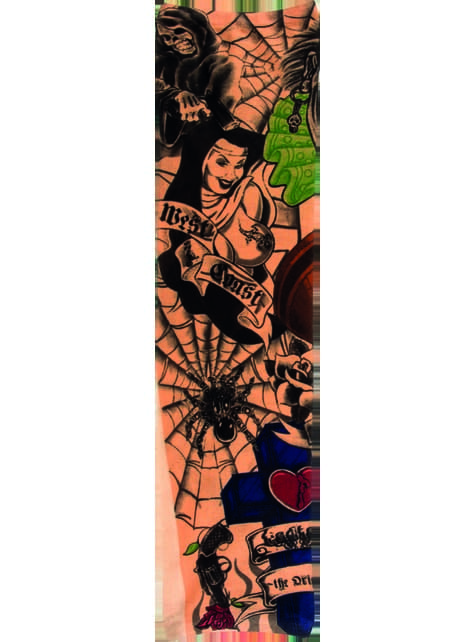 Manga con tatuajes de la costa oeste para adulto - barato