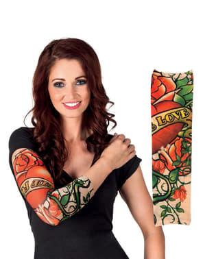 True Love Tattoo Ärmel für Erwachsene