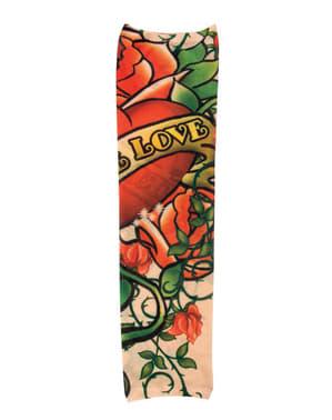 Manica con tatuaggio True Love per adulto