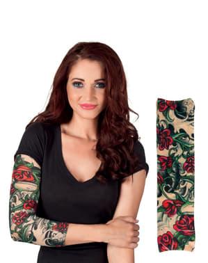 Rosen Tattoo Ärmel für Erwachsene
