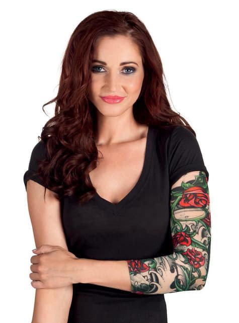 Manga con tatuajes de rosas para adulto