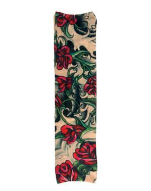 Manga com tatuagens de rosas para adulto