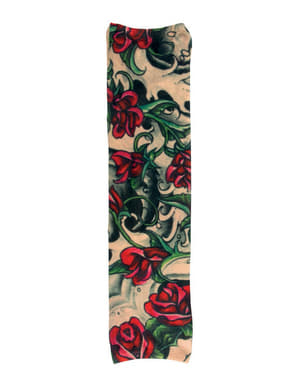 Rękaw z tatuażem róże dla dorosłych