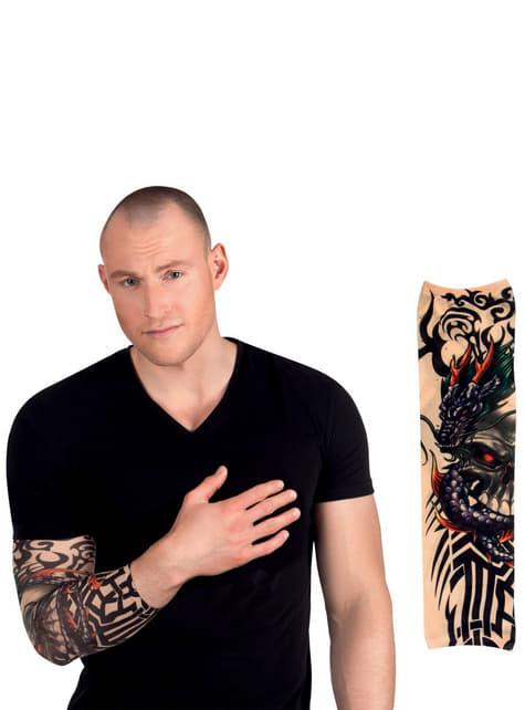 Manga con tatuaje de dragón para adulto - para tu disfraz
