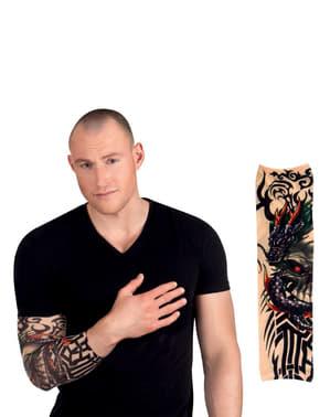 Manga com tatuagem de dragão para adulto
