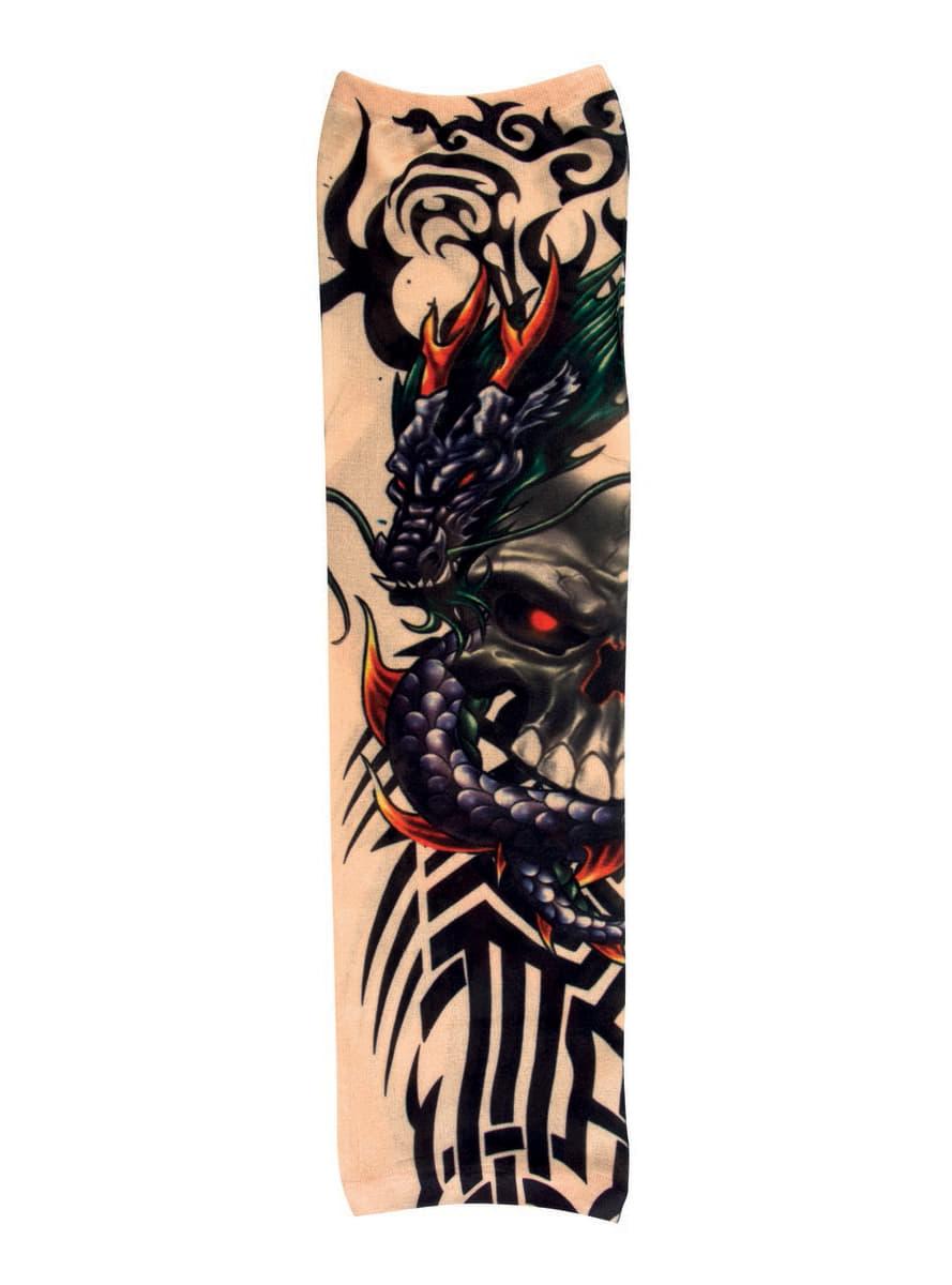 drachen tattoo rmel f r erwachsene f r kost m funidelia. Black Bedroom Furniture Sets. Home Design Ideas