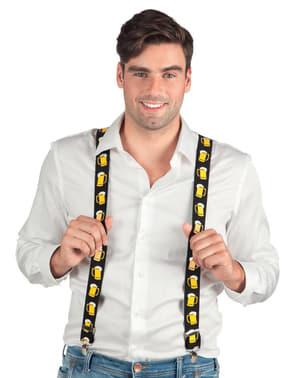 Bretels met bierpul voor volwassenen
