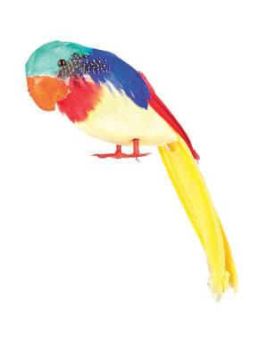 Figura decorativa de loro multicolor