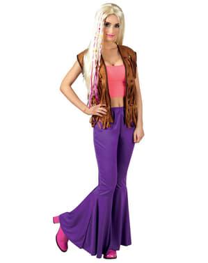 Naisten Violetit Leveälahkeiset housut