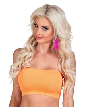 Top bustier orange femme