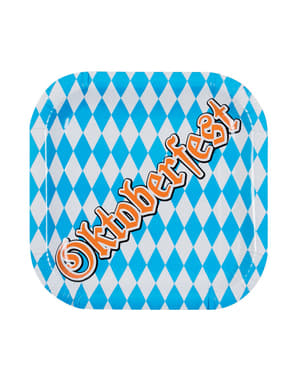 6 pratos Oktoberfest (25 cm)