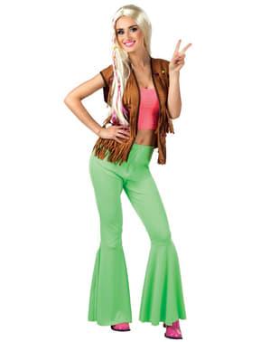Groene bell bottom broek voor vrouw