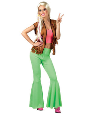Zielone spodnie dzwony damskie