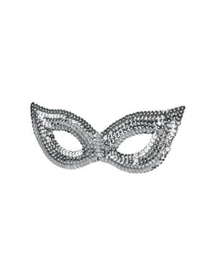 Mask Silver med paljetter dam