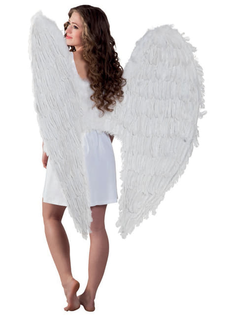 Adult's White Angel Maxi Wings