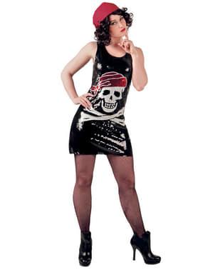 Vestido pirata de lentejuelas para mujer