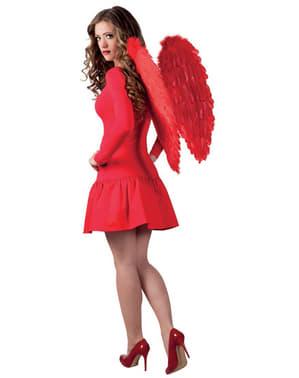 Alas de plumas rojas para adulto