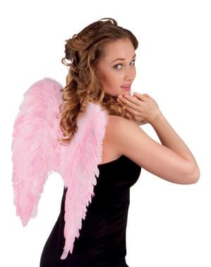 Asas de penas cor-de-rosa para adulto