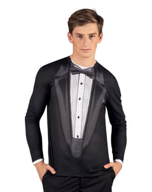 Camiseta de esmoquin elegante para hombre
