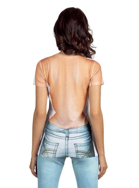 Camiseta de chica sin camiseta para mujer - original