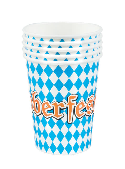 6 vasos Oktoberfest - barato