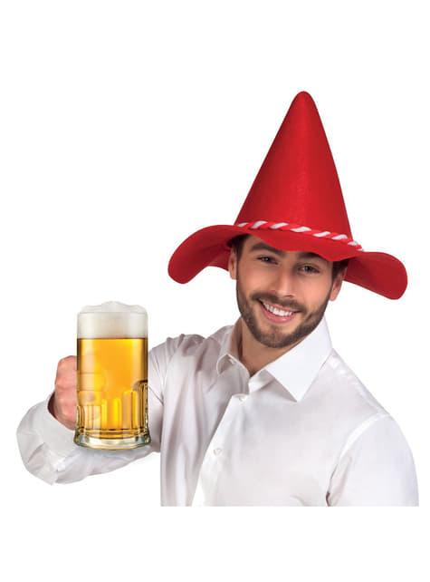 Gorro de bávaro rojo para adulto - para tu disfraz