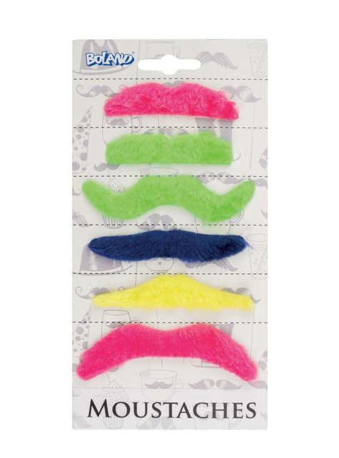 6 moustache adhésive adulte