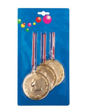 3 medallas de campeón