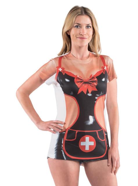 Camiseta de enfermera traviesa para mujer - mujer