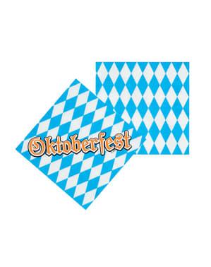 12 Oktoberfest servietter (33x33 cm)