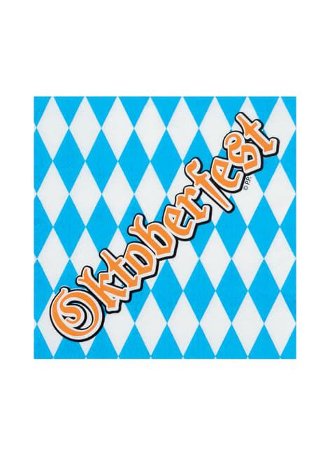 12 servilletas Oktoberfest (33x33 cm) - para tus fiestas
