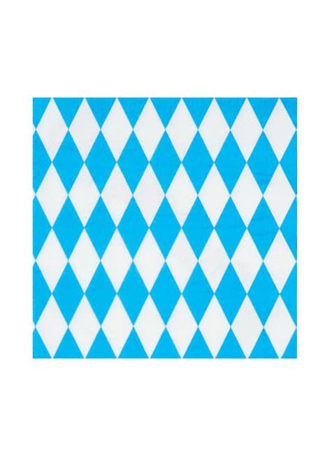 12 Oktoberfest napkins (33x33 cm)