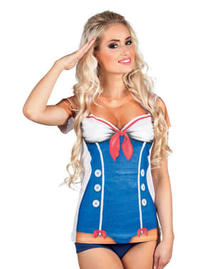 Camisola de marinheira sexy para mulher