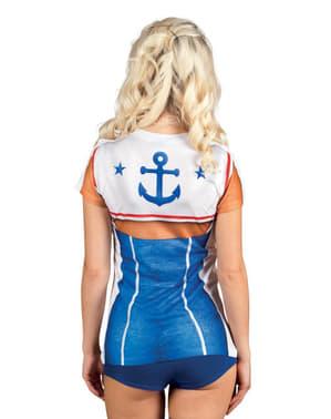 Camiseta de marinera sexy para mujer