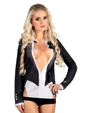 Camisola de smoking sexy para mulher