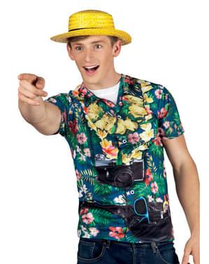 T-shirt touriste curieux gomme