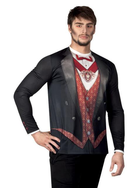 Camisola de vampiro para homem
