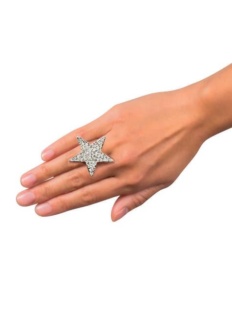 Anillo de estrella brillante para mujer - para tu disfraz