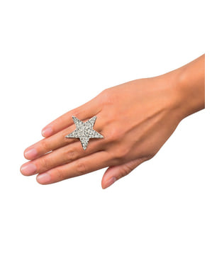 Anel de estrela brilhante para mulher