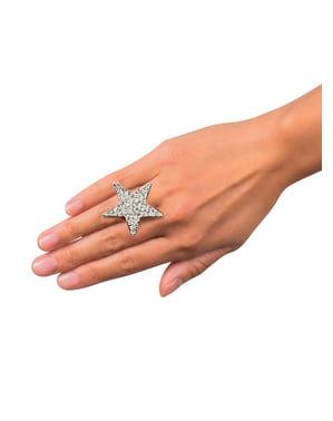 Anillo de estrella brillante para mujer