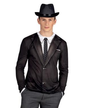Camiseta de gángster años 20 para hombre