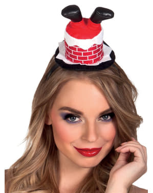 Women's Father Christmas Stuck in the Chimney Headband