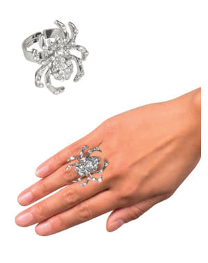 Women's Sparkling Spider Ring