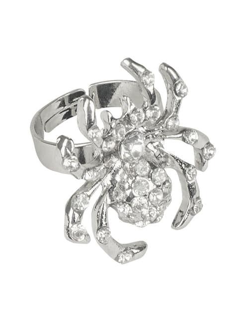 Anel de aranha brilhante para mulher