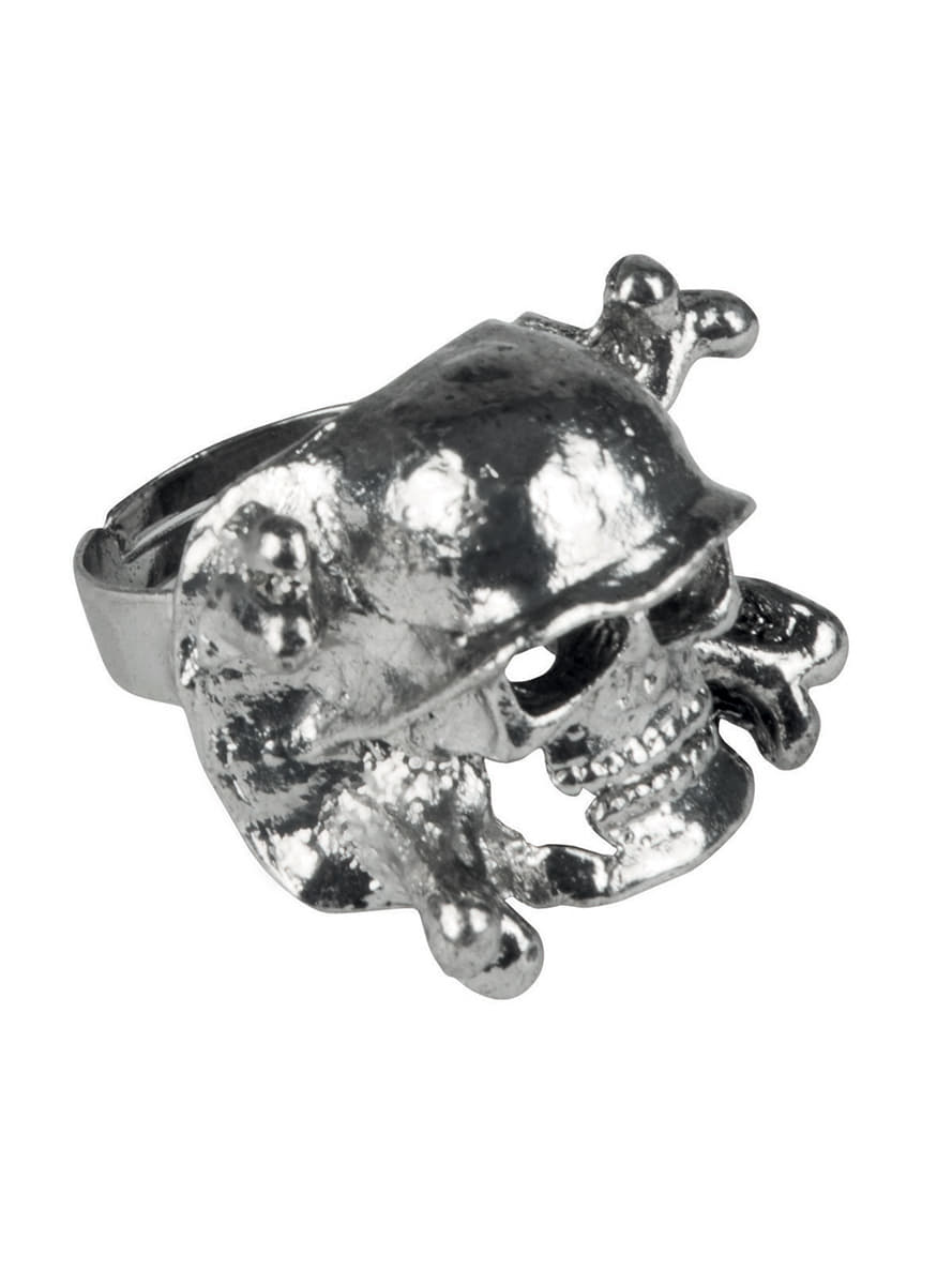 s silver plated skull ring