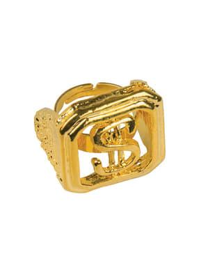 Prsten pro dospělé symbol dolaru