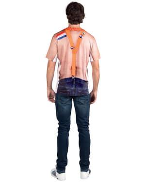 Camiseta de hincha holandés para adulto